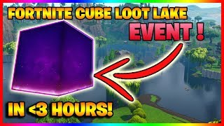 🔴 FORTNITE CUBE MOVING RIGHT NOW?! - LOOT LAKE EVENT COUNTDOWN! - 24/7 LIVESTREAM!