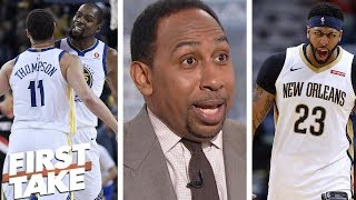Stephen A. on Warriors: Klay Thompson happy? Anthony Davis, Kevin Durant swap? | First Take | ESPN