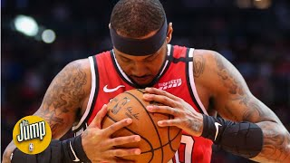 Carmelo Anthony was anything but 'Revenge Melo' on Instagram after beating the Rockets | The Jump