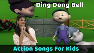 Ding Dong Bell Song | Action Songs For Kids | Nursery Rhymes With Actions | Baby Rhymes