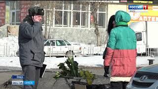 На городских улицах открылись цветочные базары