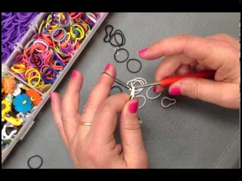 Create a basic stretch band bracelet - no loom necessary! A.C. Moore has the stretch bands, buttons and tools you need!