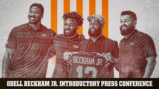 Odell Beckham Jr. Introductory Press Conference with Baker Mayfield | Cleveland Browns
