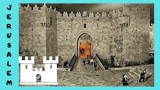 JERUSALEM, the GATES of the ancient WALLS of the  OLD CITY