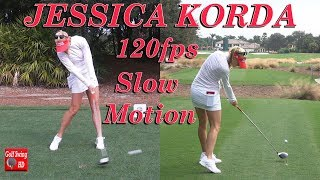 JESSICA KORDA 120fps DUAL ANGLE SLOW MOTION DRIVER GOLF SWING