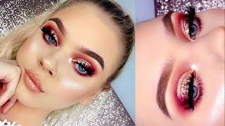 ROSE GOLD Glitter Makeup Tutorial   Tina Halada