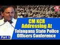 KCR addressed police officers at HICC; Part 1&2..