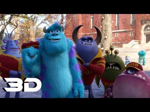 Monsters University - Official Trailer 2 In 3D (2013)