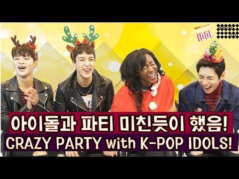 파티 미친듯이 하는 법! 아이돌 소년24와 함께! (로운, 홍인, 아이젝, 휘트니!) | Party with K-pop Idols BOYS24 (Monthly Idol)