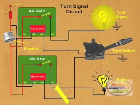 how to make a relay turn signal youtube. Black Bedroom Furniture Sets. Home Design Ideas