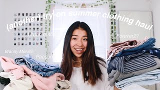 (ANOTHER) TRY-ON CLOTHING HAUL // Brandy Melville, Urban Outfitters, PacSun, Forever 21 + more!