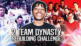 TRYING TO BUILD 2 NBA DYNASTIES AT THE THE SAME TIME IN NBA 2K20
