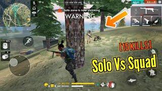 INSANE SOLO VS SQUAD GAME! (pro gameplay??...) - Garena Free Fire