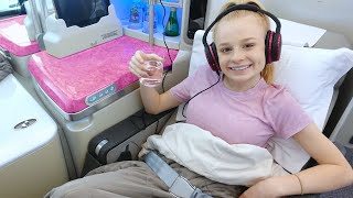 TEEN FLYING BUSINESS CLASS to DUBAI ✈️
