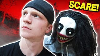 HALLOWEEN SCARE PRANK ON YOUTUBERS! (FT. UNSPEAKABLEGAMING & MOOSECRAFT)