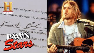 Pawn Stars: Rare Kurt Cobain Signature Smells Like Big Money (Season 18)   History