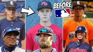 MLB Stars BEFORE They Were Famous (High School Highlights, Minors)