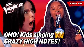 OUTSTANDING HIGH NOTES in The Voice Kids! 😱 (part 4) | TOP 10