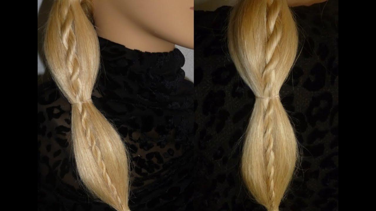 einfache schnelle zopffrisur mit kordel zopf schulfrisur easy twist braid hairstyle peinados. Black Bedroom Furniture Sets. Home Design Ideas