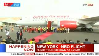 Happening now: DP William Ruto at JKIA to welcome flight.