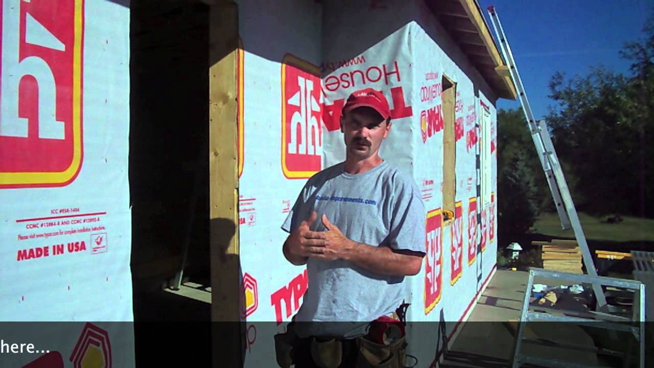 How To Install House Wrap Typar Youtube