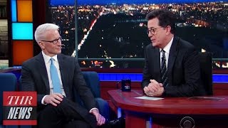 Anderson Cooper Tells Stephen Colbert He Muted Donald Trump on Twitter | THR News