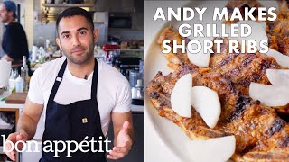 Andy Makes Grilled Short Ribs with Pickled Daikon | From the Test Kitchen | Bon Appétit
