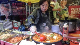 Korean Spicy Rice Cake and Pancakes. London Street Food