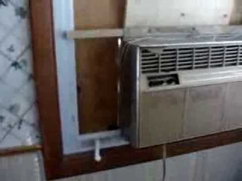 Crank Out Window Air Conditioner Install Youtube