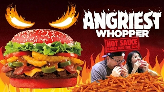 BURGER MERAH ?? ANGRIEST Whopper Review BURGER KING !