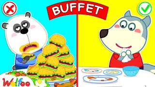 No No, Wolfoo! Don't Waste Food When Eating Buffet - Wolfoo Learns Kids Good Habits   Wolfoo Channel