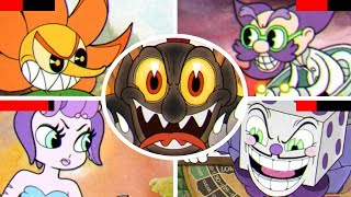 Cuphead - All Bosses with Healthbars