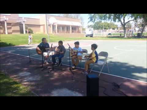 Bertrand's Music Group Guitar Class Performance at 2013 Poway Summer Camp Expo