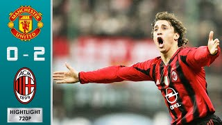 Manchester United vs AC Milan 0-2 Highlights & Goals - Round of 16 | UCL 2004/2005