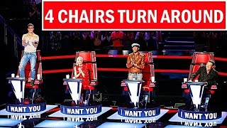 The Voice USA Best ALL 4 CHAIRS TURN AROUND (Blind Auditions) Best of The Voice