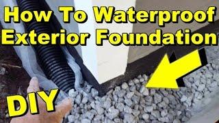 Waterproof Exterior Wall, Footer, Liquid Rubber, Sump Pump, French Drain, DIY