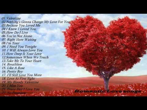 Romantic love songs   Top 50Romantic Love songs Playlist   Best Valentine Day Songs