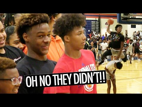 Bronny James & Mikey Williams CAN'T BELIEVE Jalen Green N Josh Christopher WENT OFF!