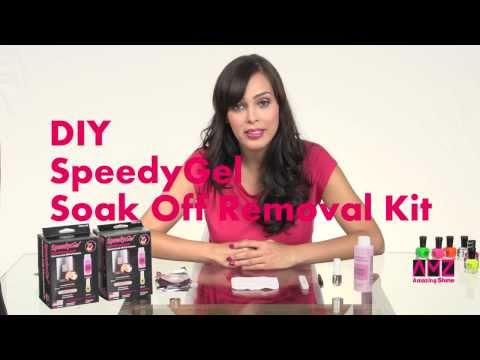 SpeedyGel Soak Off Gel Polish Kit Part II (Removal Kit) in English