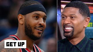 The Blazers need Carmelo Anthony to be a scorer, not a great defender - Jalen Rose | Get Up