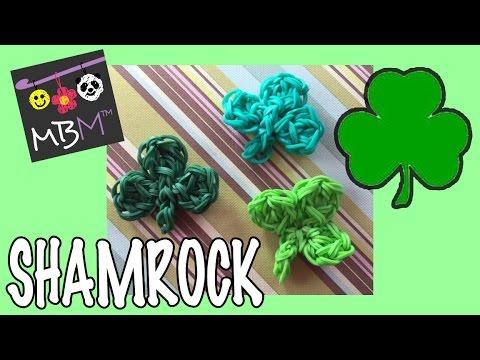 Rainbow Loom Shamrock Clover Charm for Saint Patrick's Day