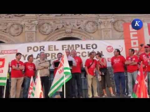 Marcha andaluza por el empleo : Intervencion de Ignacio Fernández Toxo en Sevilla