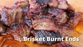 Brisket Burnt Ends   Smoked Beef Brisket and Burnt Ends on Ole Hickory