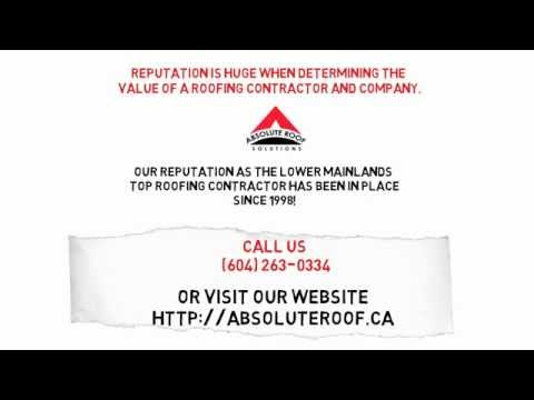 North Vancouver Roofer - A+ BBB Rating - Fully Insured