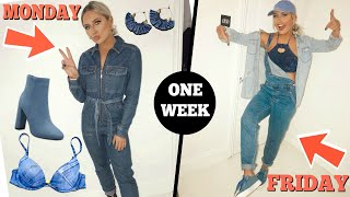 I only wore DENIM for a week challenge!!
