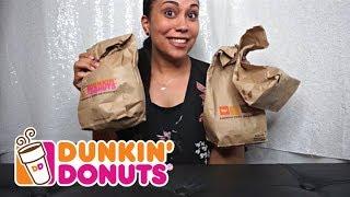 Dunkin Donuts Taste Test (Mukbang)