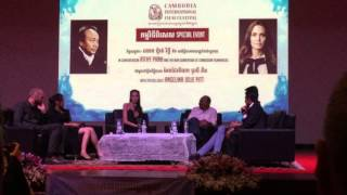 DMC student asked Angelina Jolie about Sensitive Issue in Cambodian Documentary Film
