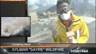 Sylmar Fire - KTLA Live Shot
