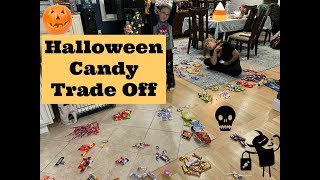 Halloween Candy Trade Party - Candy Haul From Trick Or Treating
