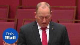 Senator slammed for using Nazi term 'final solution' in parliament
